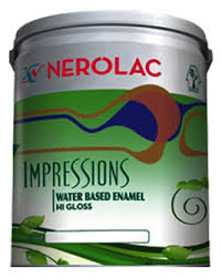 NEROLAC IMPRESSION HI GLOSS ENAMEL  paint prices